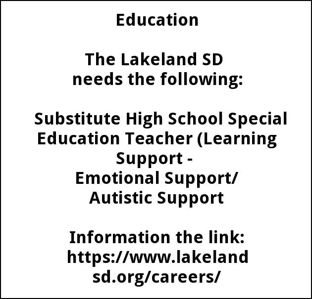 Substitute Teaching Positions