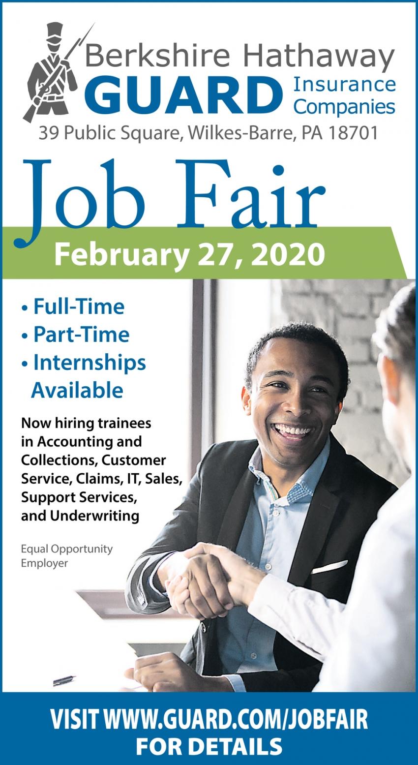 Job Fair February 27, 2020