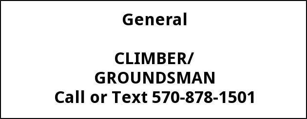 Climber/Groundsman