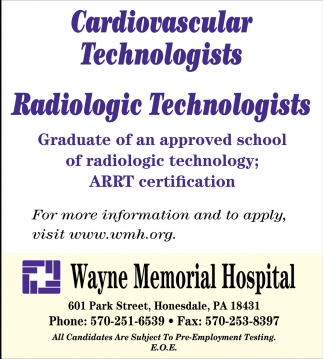 Radiologic Technologists  Cardiovascular Technologists