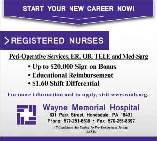 Start Your New Career Now!