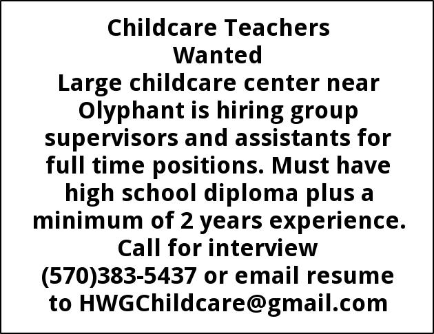 Childcare Teachers