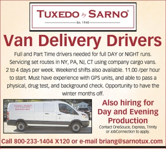 Van Drivers and Production