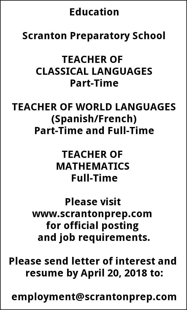 Teacher of Classic Languages