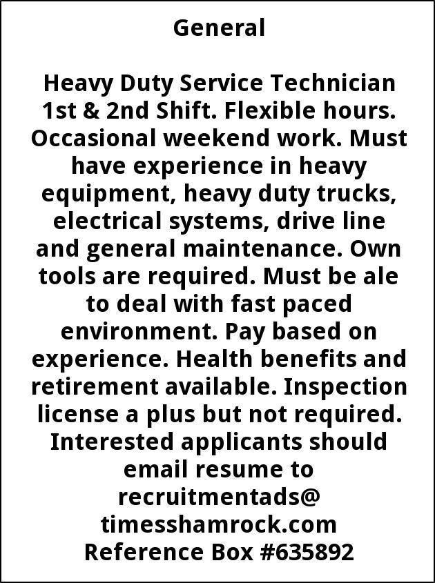 Heavy Duty Service Technician