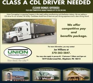Class A CDL Driver