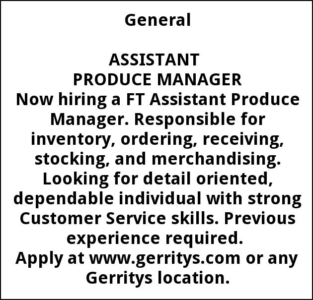 PRODUCE MANAGER