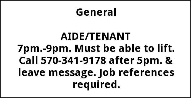 Aide/Tenant